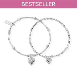 Silver Compassion Set of 2 Bracelets
