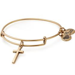 Cross Bangle in Rafaelian Gold