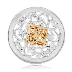 Silver Square Fantasy Coin 23mm