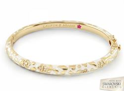 Lauren G Adams Flowers by Orly White Bangle Small