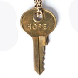 "HOPE Dainty Gold 36"" Key Necklace"