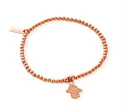 Cute Rose Gold Decorated Hamsa Bracelet
