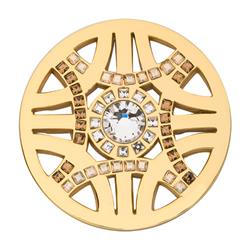 Gold Swarovski Royal Chic Coin 33mm