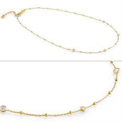 Stone Set Bella Necklace in Yellow Gold