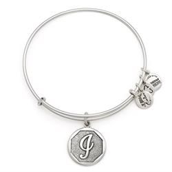 I Initial Bangle in Rafaelian Silver