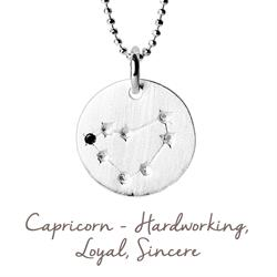 Mantra Capricorn Star Map in Silver