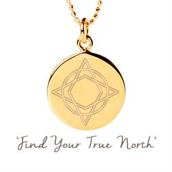 Wanderlust True North Necklace in Gold