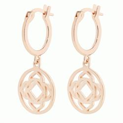 Base Chakra Rose Gold Drop Earrings