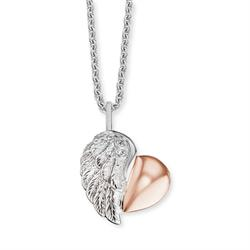 Rose Gold Wing Heart Necklace