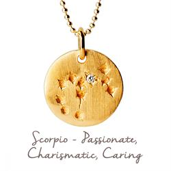 Scorpio Star Map in Gold