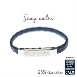 Blue, Stay Calm, CALM Charity Bracelet