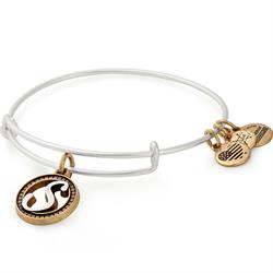 S Initial Two-Tone Bangle