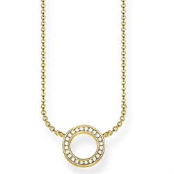 Gold CZ Circle Necklace