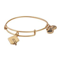 Graduation Cap 2018 Bangle in Rafaelian Gold