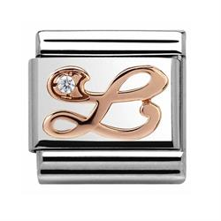Buy Nomination Rose Gold CZ Letter L