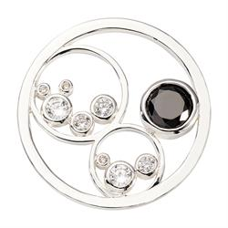 Silver Minimal Black Small Coin 23mm