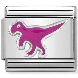 Pink Dinosaur Charm by Nomination