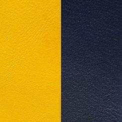 Wide Sun Yellow / Navy Leather