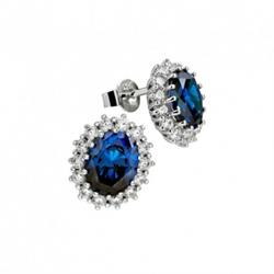 Royal Blue Cluster Earrings