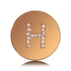Letter H Small Gold Coin