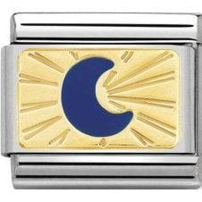 Gold Blue Moon Charm