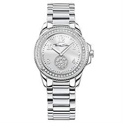White CZ Sundial Watch 33mm by Thomas Sabo