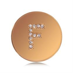 Letter F Small Gold Coin