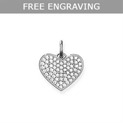 Rose Gold Heart Red CZ Pave Pendant