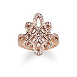 GLAM & SOUL Rose Gold Love Knot Ring Size 54