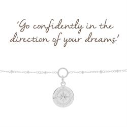 Buy Mantra Compass Charm Bracelet