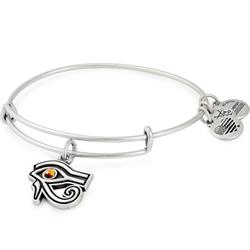 Eye of Horus Bangle in Rafaelian Silver