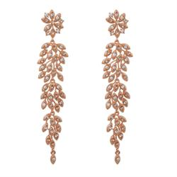 Laurel Rose Gold Drop Earrings