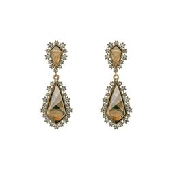 Cecile Golden Shadow Earrings