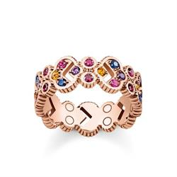 Royalty Wide Ring Rose-Gold Plated Size 54