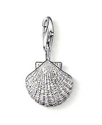 Shell Silver Charm