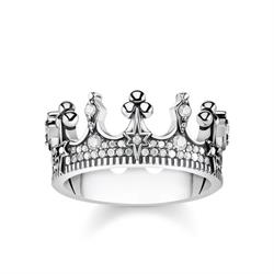 Silver Crown Ring 54