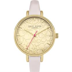 Pink Leather Gold Phoebe Watch