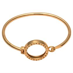 Yellow Gold Bangle with Small Carrier 19cm
