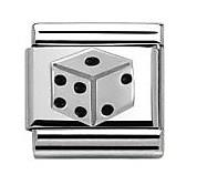 Nomination Black Dice Charm