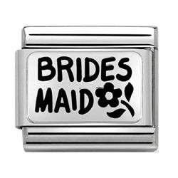 Silver Bridesmaid Charm by Nomination