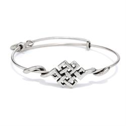 Endless Knot Wrap Bangle in Rafaelian Silver Finish
