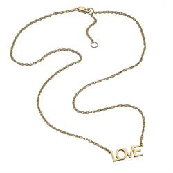 Jennifer Zeuner Lucinda LOVE Necklace in Gold