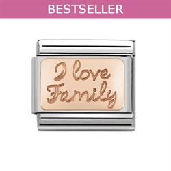 Rose Gold I Love Family