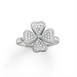 Thomas Sabo CZ Clover Ring Sterling Silver