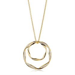 Gold Plated Cetara Due Grande Necklace