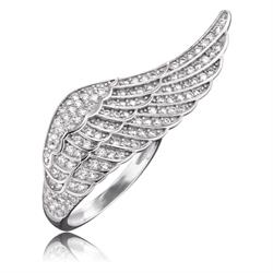 Engelsrufer Angel Wing CZ Ring in Silver