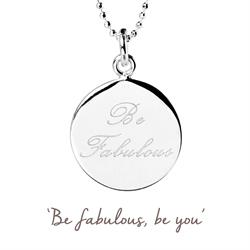 Be Fabulous Mantra Necklace in Silver