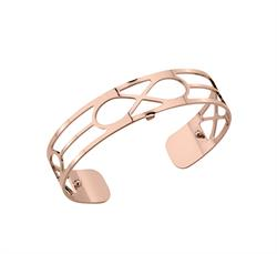 Rose Gold Infinity Slim Cuff Bangle