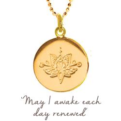 Lotus Renewed Necklace in Gold