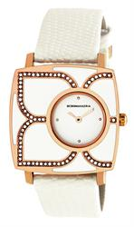 White Enamel Petal Watch